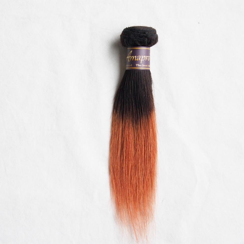 Straight Ombre Hair Bundles / 1B / Borgoña 1B / 27 1B / 30 Ombre Brown Virgen brasileña Hair 50g / paquete