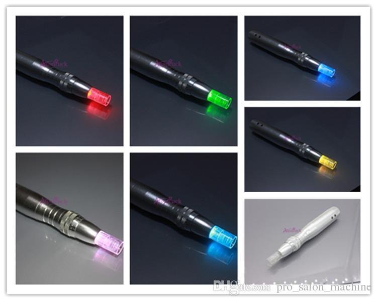 LED Photon Derma Électrique Auto stylo Tampon Photon Micro Aiguilles Dermapen Ride Acné Cicatrice Supprimer Peau Thérapie Soins Outil Machine