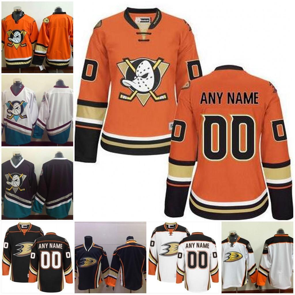 44a0d2a7d Custom Anaheim Ducks Personalized White Orange Black Third Mighty Ducks Of  Anaheim Purple White Vintage Throwback Hockey Jerseys S 4XL UK 2019 From ...