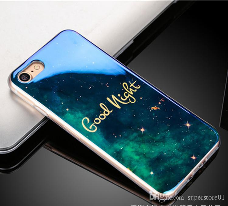Handytaschen Fashion Starry Sky Blue Mobile Schützen Cover Mix Farbe Handy Shell Weihnachtsgeschenk Neu