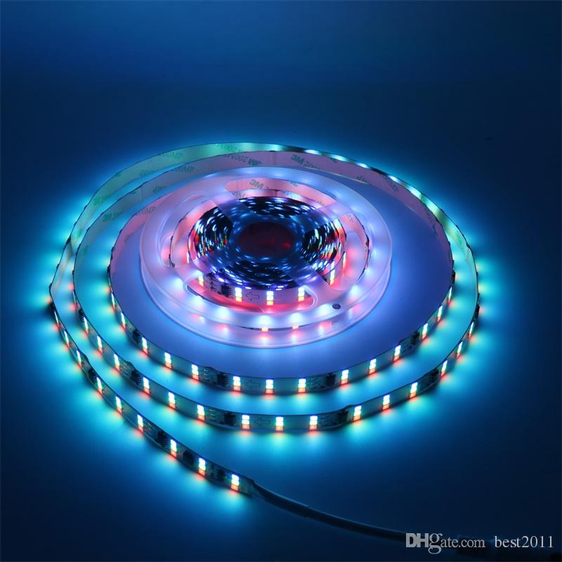 5M 1903 IC 2835 SMD RGB Auto Changeable 180LED/M Three row Dream Color Full Color Strip DC12V Non-waterproof IP20