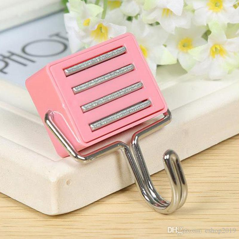Seamless square magnetic hooks refrigerator magnet hook single hook mounted bearing factory wholesale cheapest