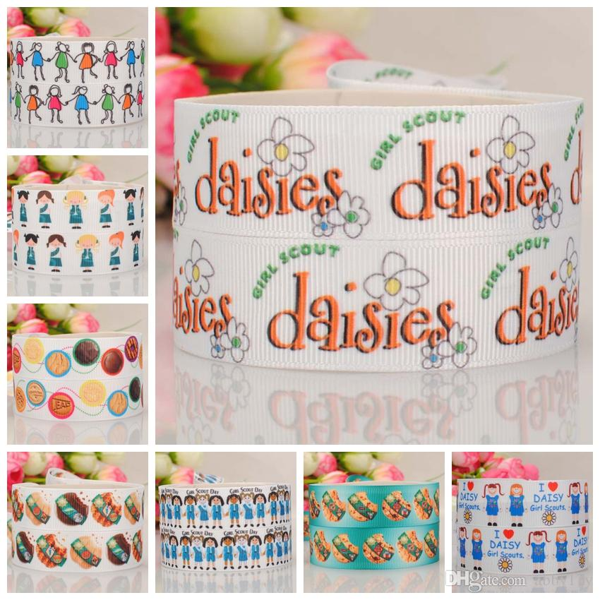 1d024a85f 22mm 7/8cartoon Scout Girl Printed Hairbow Grosgrain Ribbon Tape 10yards  Scout Girl Ribbon Cookie Time Ribbon Grosgrain Ribbon Online with $7.07/Yard  on ...