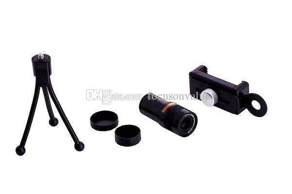 Universal 9X Mobile Phone Lens 9X Optical Zoom Telescope Lens with Tripod For iPhone Samsung Huawei Smartphone Telephoto Lens