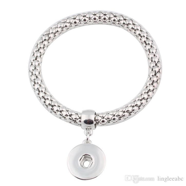Moda nuovo fai da te Noosa Chunk 18 millimetri metallo pulsante bracciale fai da te Ginger bottone a scatto gioielli con bottone a pressione Charms bracciale