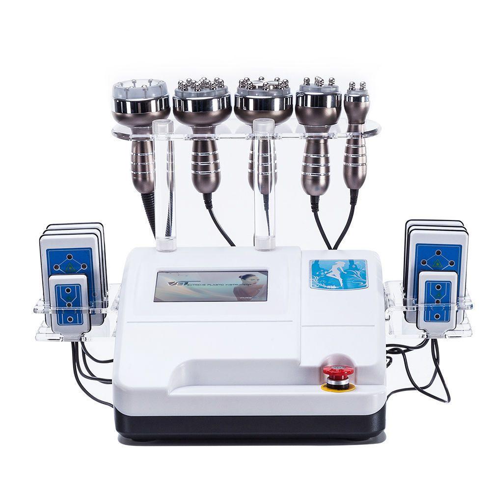 Latest model 6in1 RF Radio Frequency Vacuum lipo Laser Cavitation Body Shaper Weight Loss Slimming Machine SPA DHL