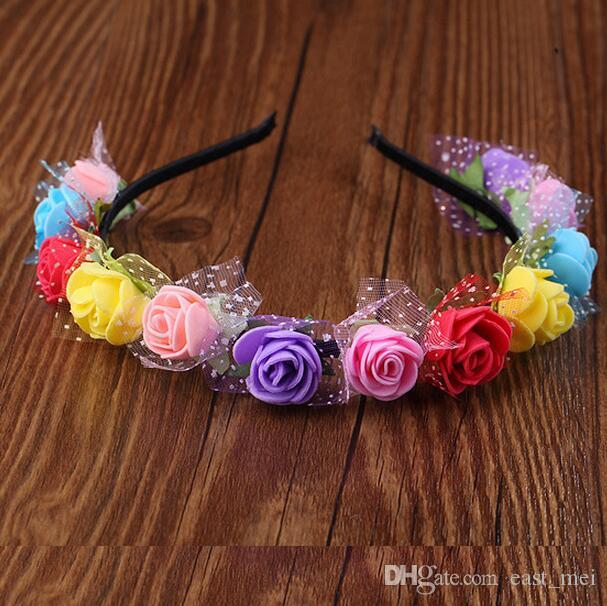 En iyi hediye Headdress saç bandı gelin çelenk fotoğraf takı tatlı prenses çelenk TG191 mix sipariş 30 parça çok