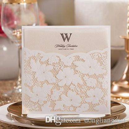 Compre hot wishes customizable laser cut wedding invitations cards compre hot wishes customizable laser cut wedding invitations cards kits white for marriage engagement for birthday bridal shower party favor z55 de stopboris Image collections