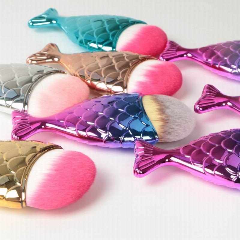 Mermaid Makeup Brush Powder Contour Fish Scales Mermaidsalon Foundation Brush face brushes for Beauty Cosmetics