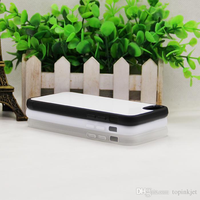 Sublime boş 2D kauçuk malzeme TPU kılıf iphone 7/7 Artı