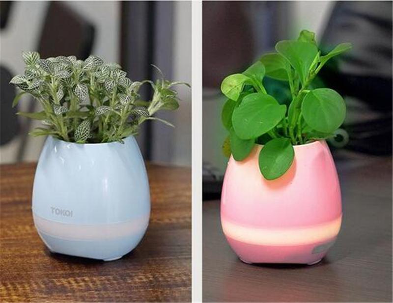 TOKQI Bluetoth Smart Touch Music Pots de fleurs Plante Musique pour piano Jouer au pot de fleurs sans fil K3 sans plantes