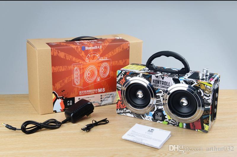 20 Watt Tragbare Holz High Power Bluetooth Lautsprecher Tanzen Lautsprecher Wireless Stereo Super Bass Boombox Radio Empfänger Subwoofer