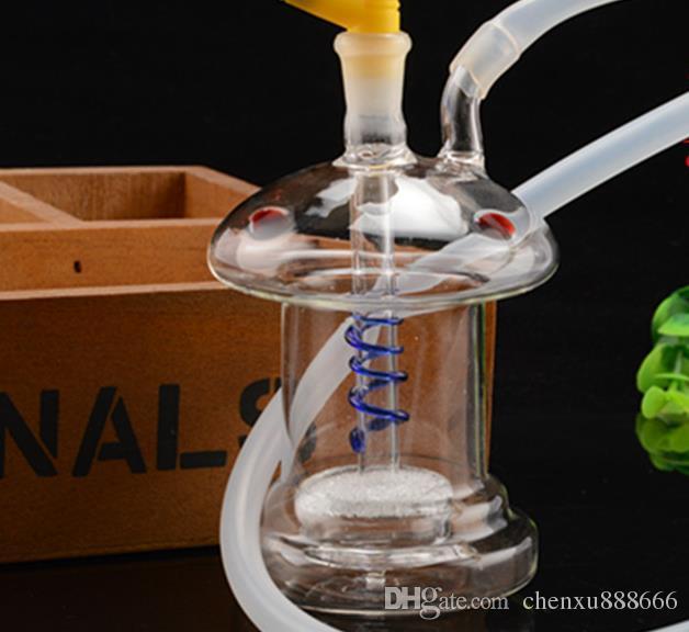 Özel şeklinde dilsiz çift filtre çeşitli olabilir Nargile, pot aksesuarları, cam bongs, cam nargile, sigara, renk st gönderebilirsiniz