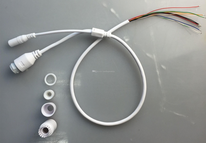 Белый разъем порта силы DC 12V сети RJ45 цвета, кабельные линии PCB доски Circut модуля камеры слежения IP CCTV