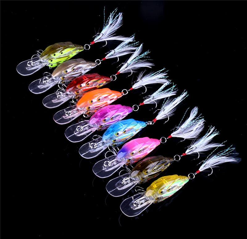 Горячие 3D глаза длинный рот Shad Crankbait Fly Fishing приманки 7.5 cm 9g Живая мишень гольян приманка для пресноводных рыболовных снастей