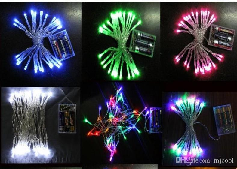 4M 40 Led luces de la secuencia de luz de flash de iluminación de Navidad luces de la boda de Navidad luces de la boda 4 metros decoración del partido luz de Navidad