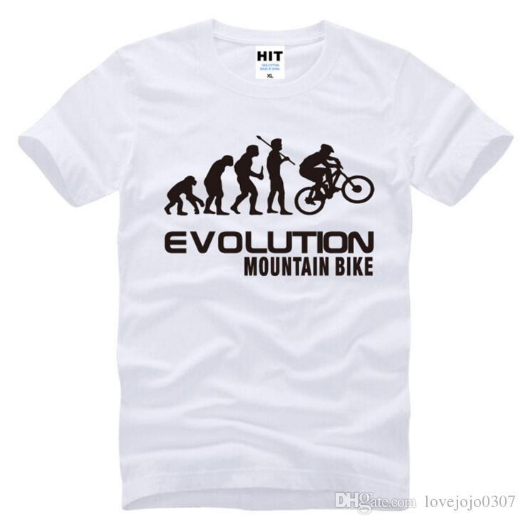 Compre Nuevo Diseñador Evolución De Mountain Bike Camisetas Hombre Algodón  De Manga Corta Hip Hop Hombre Camiseta Moda Divertido Deporte Tops Tees D15  A ... 71e41fac87f34