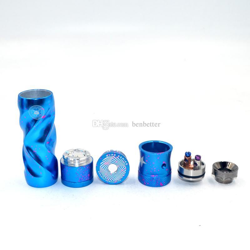 AV Fast Gyre Cotton Candy Kit mecánico de modificación Avid Lyfe Mech Mod w / H RDA Vape Mod Kit para DHL libre al por mayor Envío gratuito