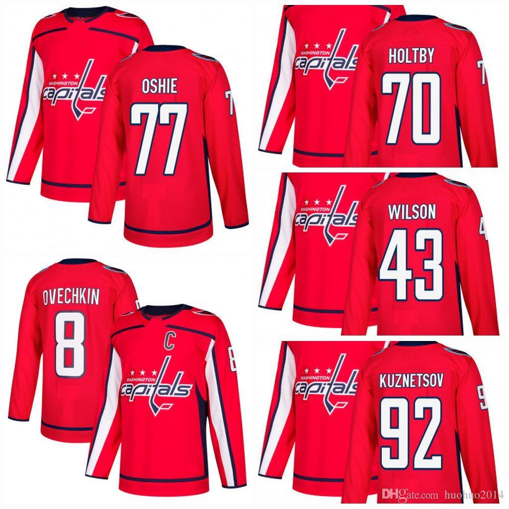 77 T.J. Oshie Hockey Jersey  43 Tom Wilson  8 Alex Ovechkin  70 ... f4c40ada4