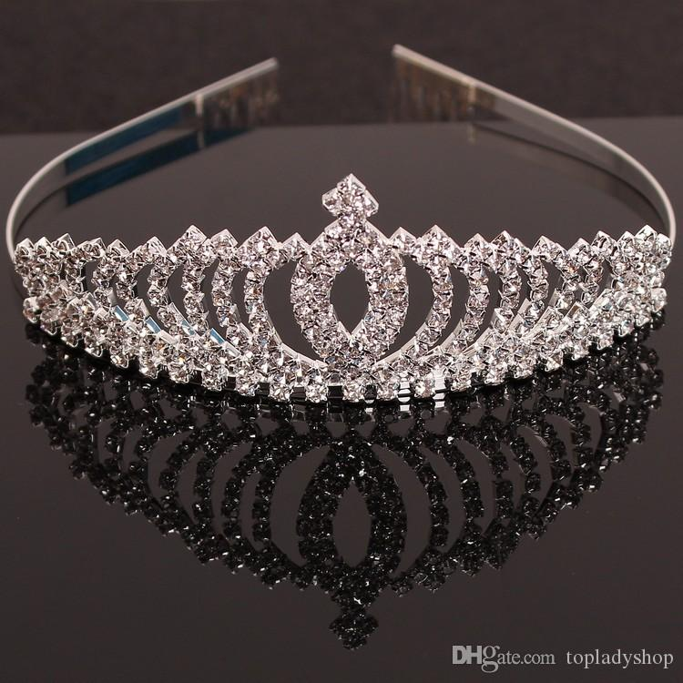 Beautiful girls princess children headdress hair crystal diamond crown hair comb Bride hair headdress wholesale