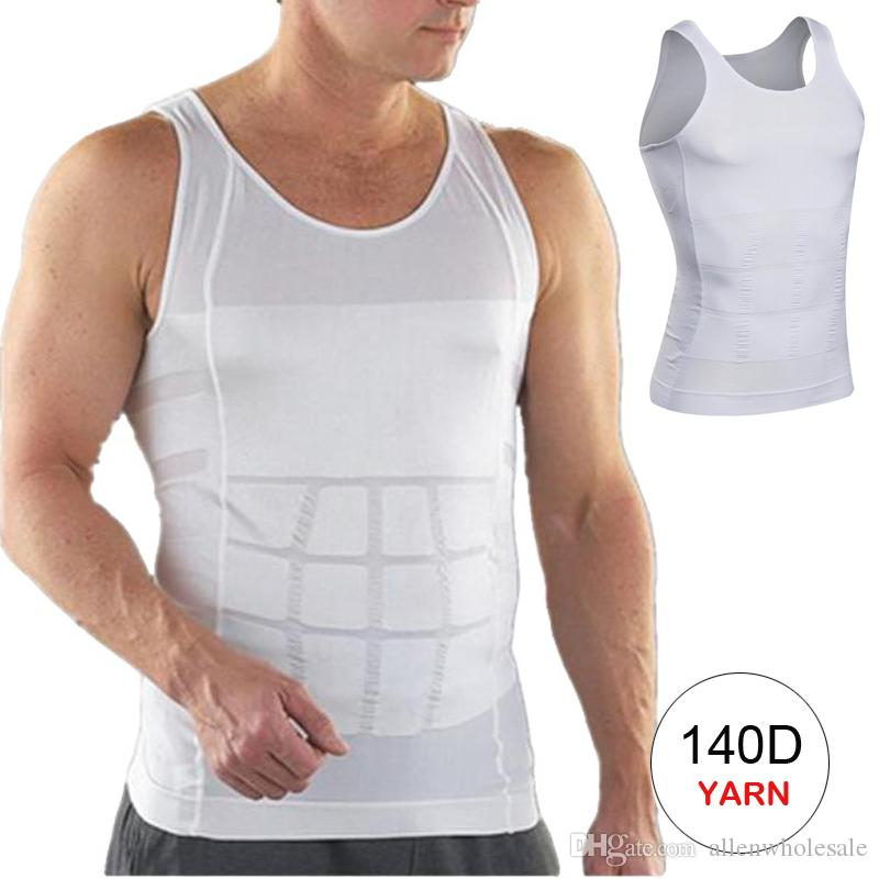 347c48843b706 2019 Men Slimming Shirt Elimination Of Male Beer Belly Body Shaper From  Allenwholesale