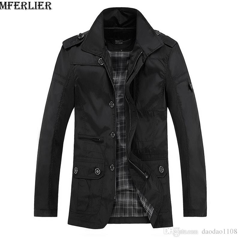 Autumn Winter Men Casual Jackets Cheap Thin Light Waterproof Plus ...