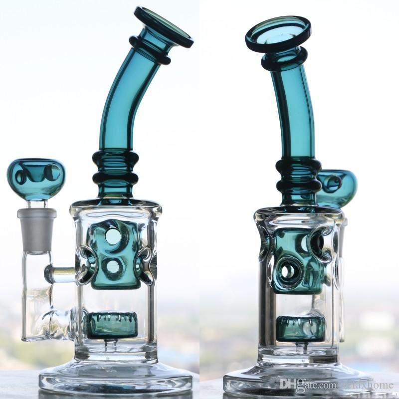 Chinese Cheap glass Bongs water pipes oil rigs double appearance glass bong smoking pipe unique design glass bubbler thick fab egg