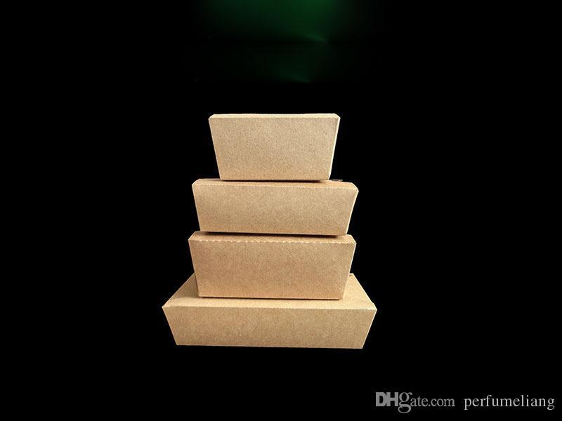 Monouso Kraft Paper Takeout Contenitore di Imballaggio Alimenti Rrectangular Fast Food Snack Insalata Carrier Piatto Spedizione Gratuita ZA4376