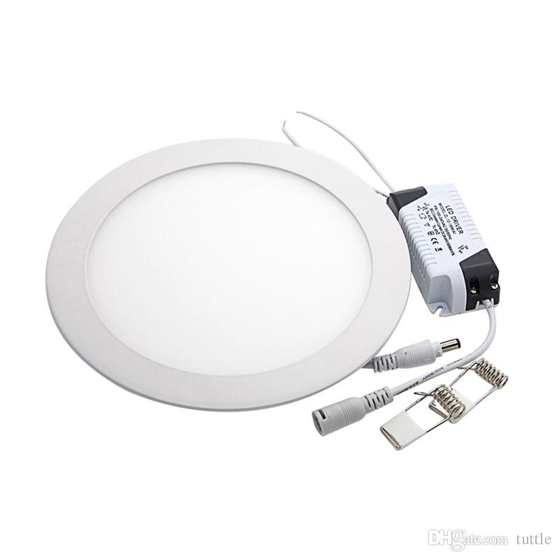 Ультра тонкая светодиодная панель Downlight 3W 6W 9W 12W 15W 18W 25W Круглый светодиодный потолочный светильник AC85-265V