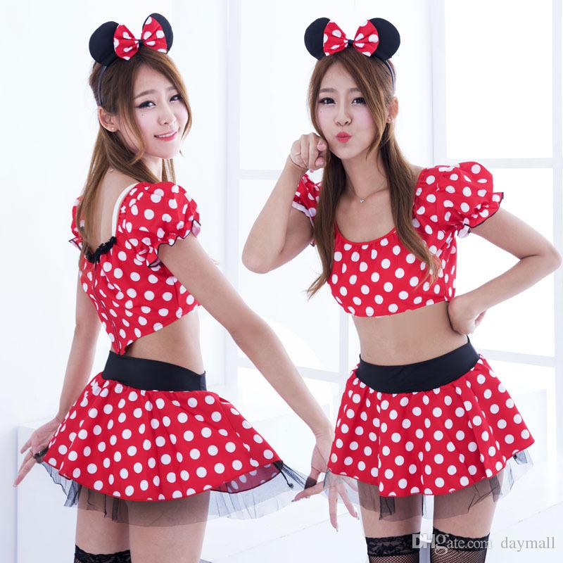 220be81a007a4 2017 Cosplay Costume Girls Cartoon Sexy Dress Lady s Princess Dresses  Christmas Payty Dress With Bow Dot Halloween Costume,support drop ship