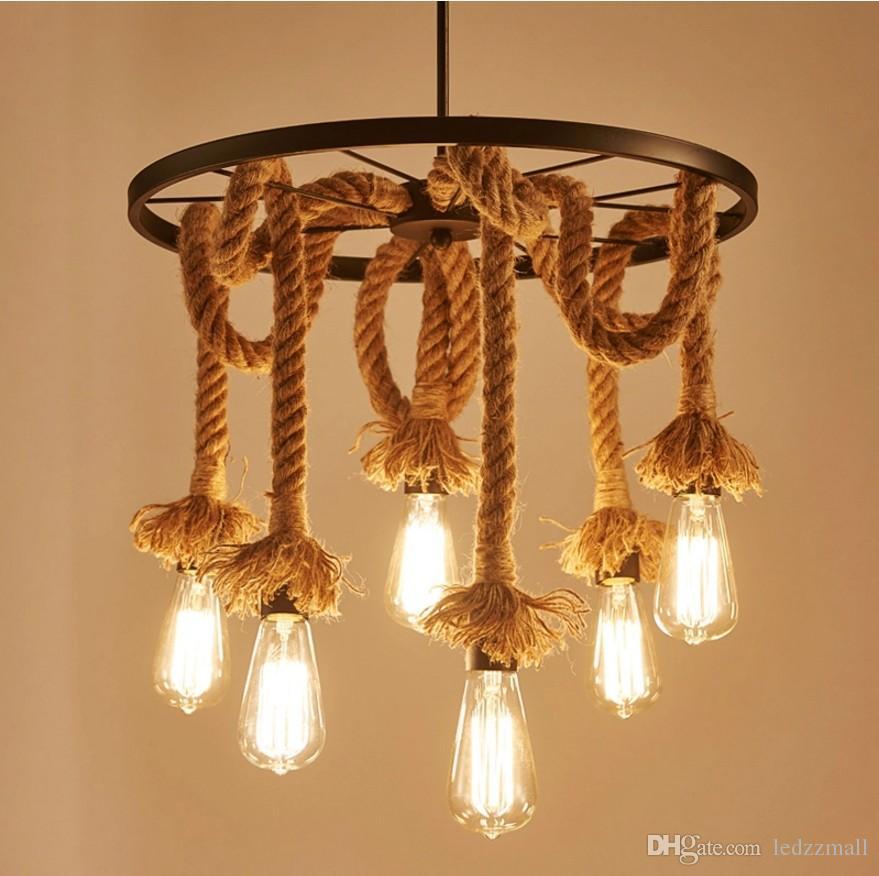 lampara rope vintage pendant lights retro 10 Unique Lustre Pendant Hht5