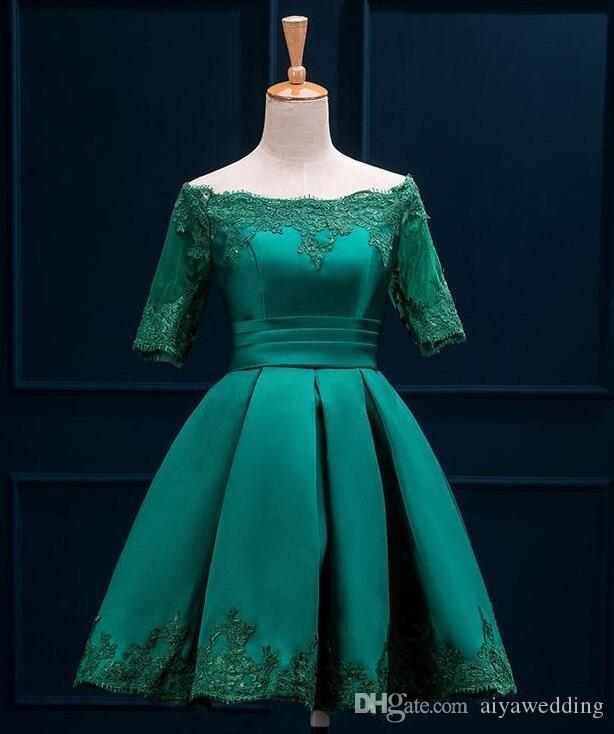 2019 Arabic Sexy Short Party Cocktail Dresses Myriam Fares Dress Knee Length A Line Lace Up Appliques Prom Evening Gowns Dresses for Women
