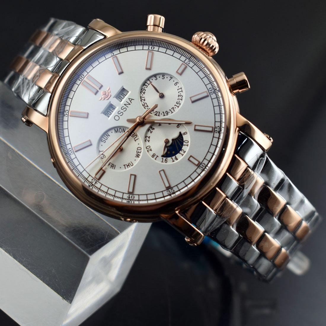 2166 Ossna Date&Day 41mm White Dial Stainless Steel Strap Automatic Men'S  Watch Waterproof Watches Couple Watches From Hk007, $101.53| DHgate.Com