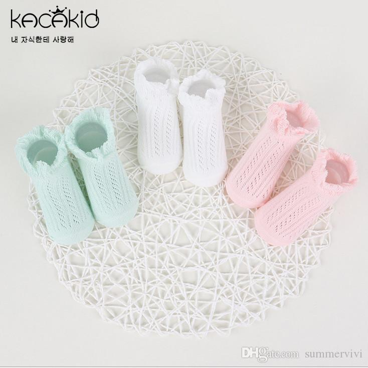 6a2bcbe35 Baby Socks Fashion Toddler Kids Knitting Socks Kids Hollow Mesh Ship Socks  Children Ruffle Lace Princess Stockings Summer Girl Sock T3251 Free Us  Socks ...