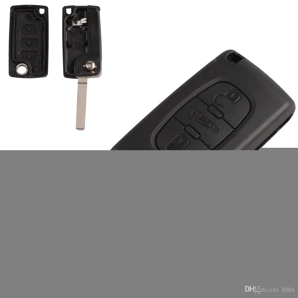 Car 3 Button FOB Remote Key CASE Uncut Blade for Peugeot 107 207 307 407 308 407 607 AUP_41S