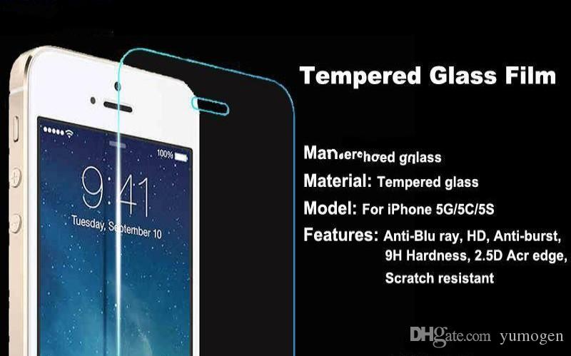 2.5D Premium Tempered Glass Manufacturer Price Screen Protector for iphone 6 6s 7 Plus 5S 5 4S SE Samsung S7 S6 edge s5 s8 huawei p9 5x