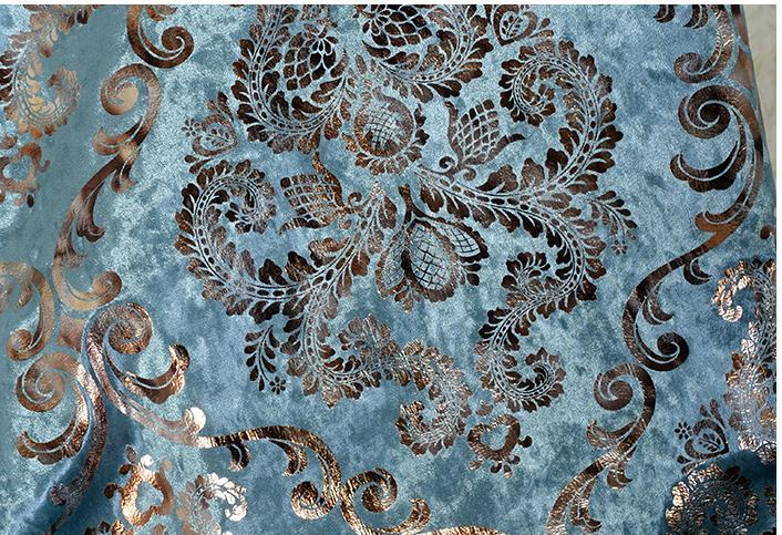 European top-grade Damascus flower ice velvet gilding silver sand release is expected to hold pillow chair cushion for leaning on of fabric