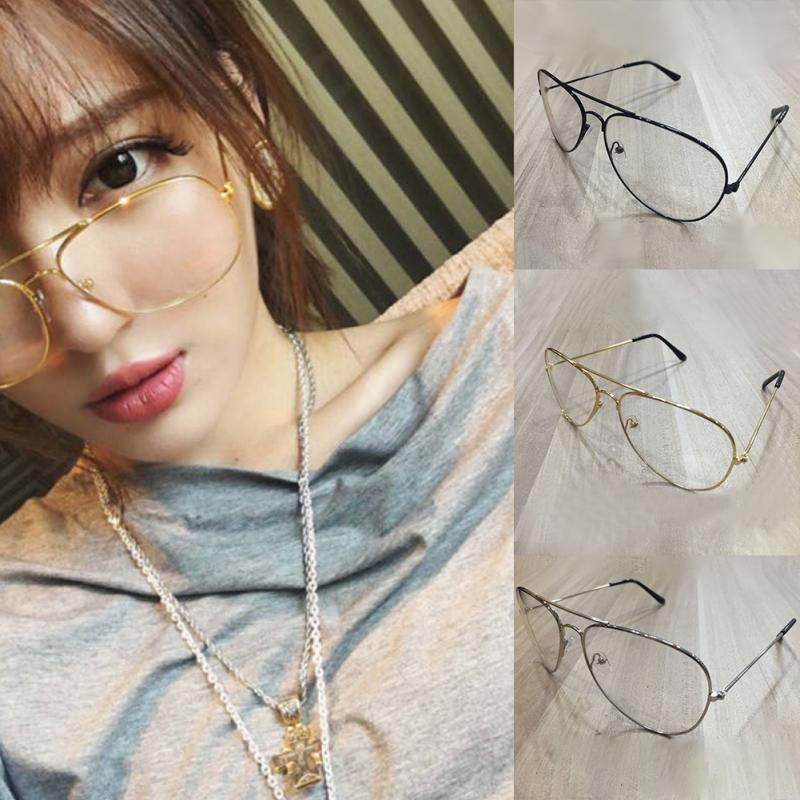 1fef61612ff Chic Eyeglasses Retro Big Round Metal Frame Clear Lens Glasses Nerd  Spectacles Black