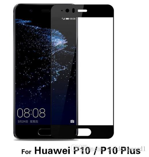 Huawei P9 Tam Kapak Temperli Cam Ekran Koruyucu Için Huawei P9 P10 Artı P8 Lite Onur 8 Lite Nova Ipek Baskı 9 H Sert Cam 2017 Satış