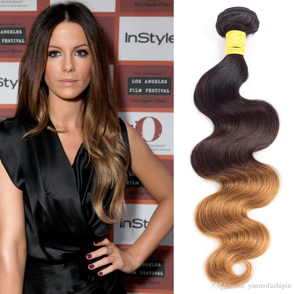 Ombre Body Wave Brazilian Human Hair 3 Or 4 Bundles 1b430 Three
