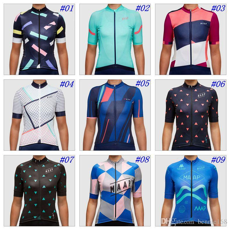 2017 Maap Cycling Tops For Women Summer Style Short Sleeves Cycling Jersey  MTB Ropa Ciclismo Size XS 3XL Bicycle Clothing Cycling Tops Cycling Shorts  Women ... b22dc5860