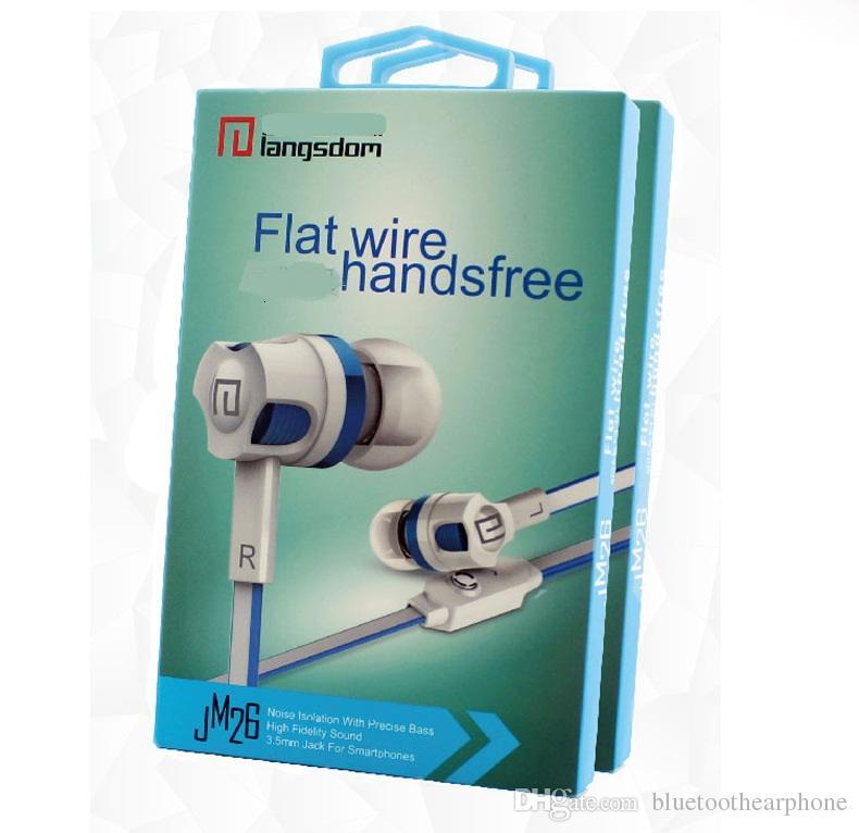 Langsdom verdrahtet Earbuds JM26 Original Brand Kopfhörer Neue Kopfhörer Noise-Cancelling-Kopfhörer mit Mikrofon für Handy