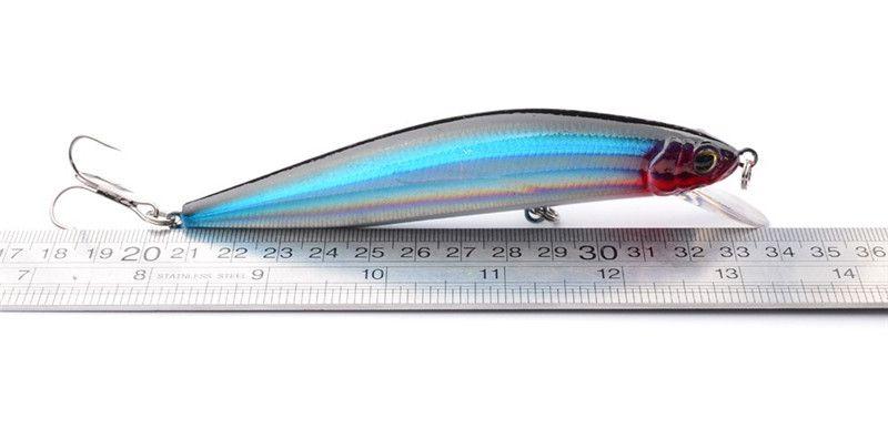 New 3D Large Sea Minnow Artificial Fishing Lures 24g 13.5cm 2# hooks Transparent laser Baits Diving Depth 1.5-3.5m