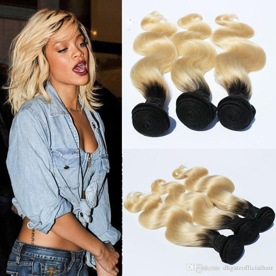 Online Cheap Real Quality Ombre Blonde Malaysian Hair Weave Bundles
