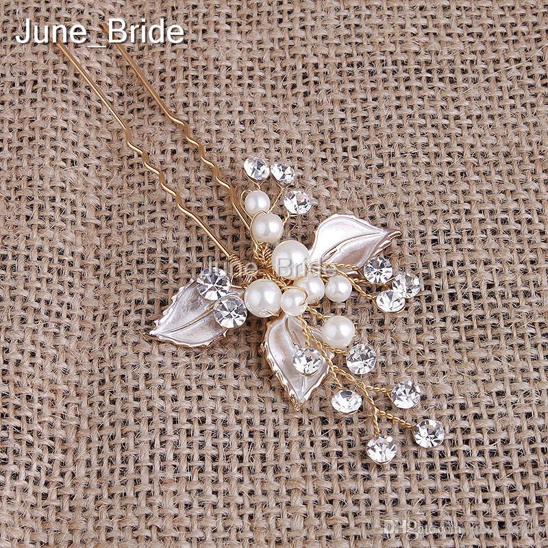 Superbe Rhinestine Fleur Épingles À Cheveux De Mariée Or Argent Accessoires De Mariage Élégant À La Main Perle Cristal Femmes Bijoux Casque