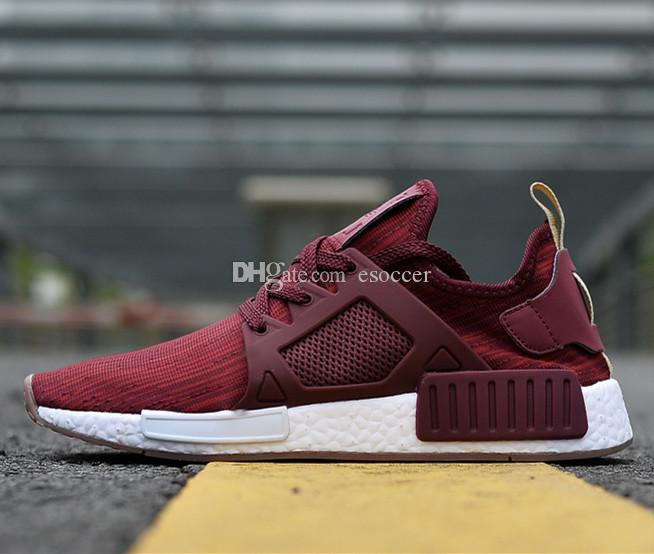 20febfccbdbd 2019 36 45 NMD XR1 Primeknit Wine Red Men And Women Nmd Sneakers Running  Shoes Mens Ultra Boots Walking Shoe From Esoccer