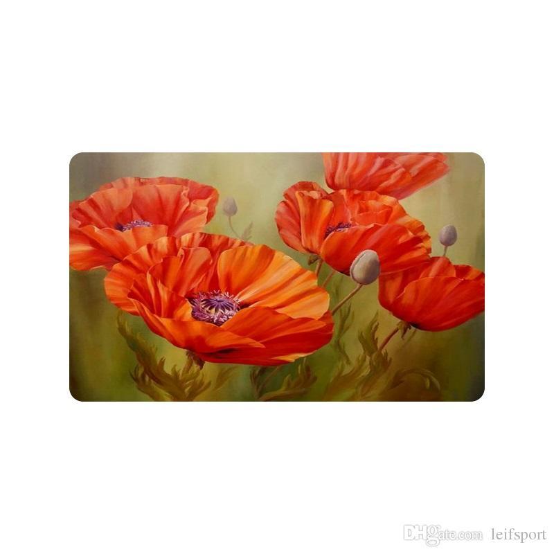 Red poppy flower art custom doormat entrance mat floor mat rug red poppy flower art custom doormat entrance mat floor mat rug indooroutdoorfront doorbathroom mats rubber non slip size rug dealers shaw carpet prices mightylinksfo
