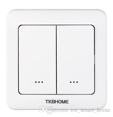 TKB Gen5 New Z-Wave dual relay wall switch for 2 separate loads remote control via smart phone