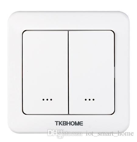 TKB Gen5 Yeni Z-Dalga çift röle duvar anahtarı 2 ayrı yükler için akıllı telefon üzerinden uzaktan kumanda