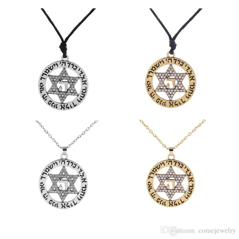 Wholesale Star Of David Vintage Necklaces For Women Statement Israel  Supernatural Pendants Fashion Jewelry With Rhinestone Charms Wiccan Cat  Pendant ... 8f0672d05189